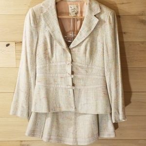 Nanette Lepore Tweed Skirt Jacket Multicol…